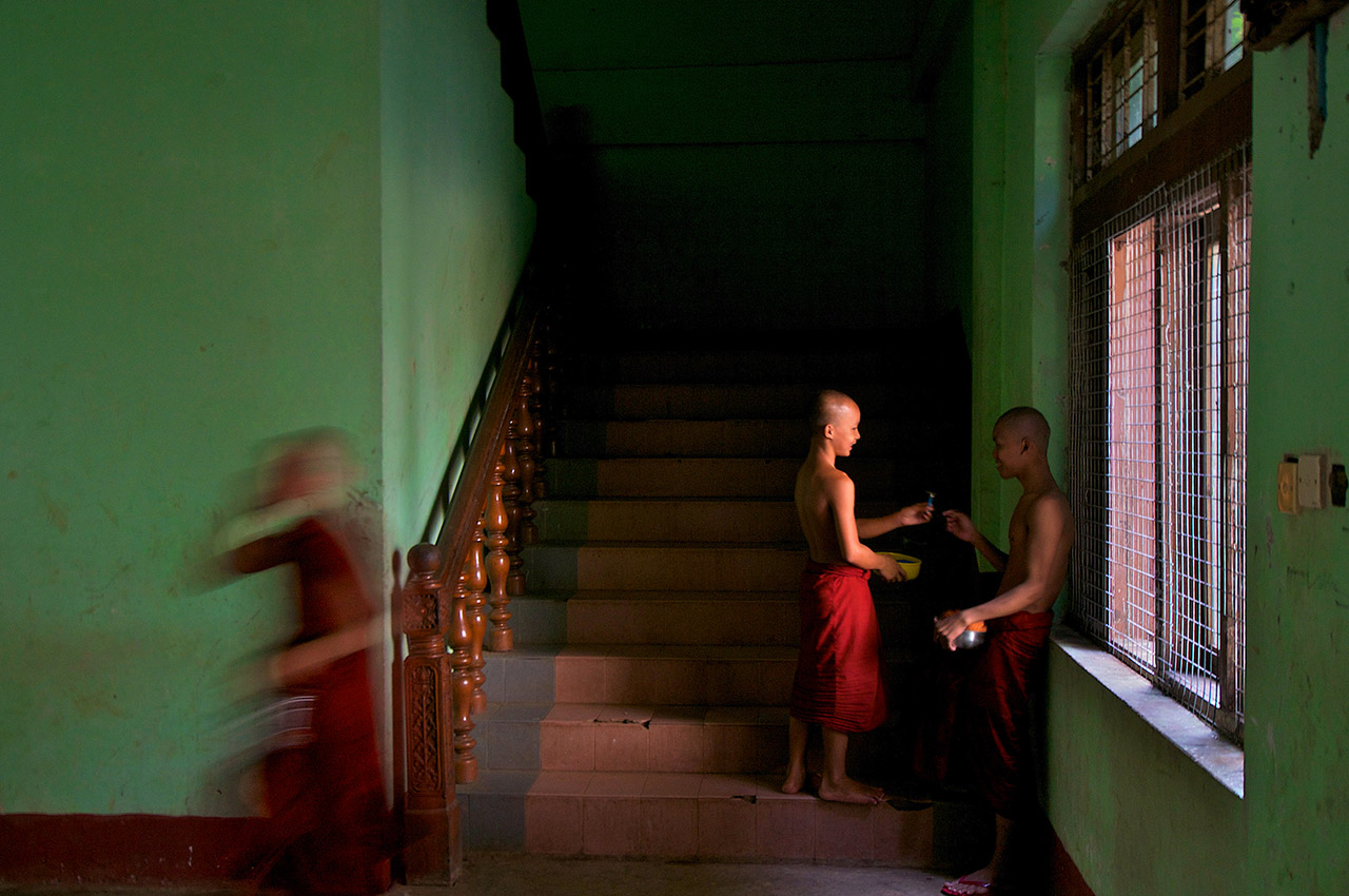 Novice Monks at a Monastery in Yangon, Myanamr, ©2017