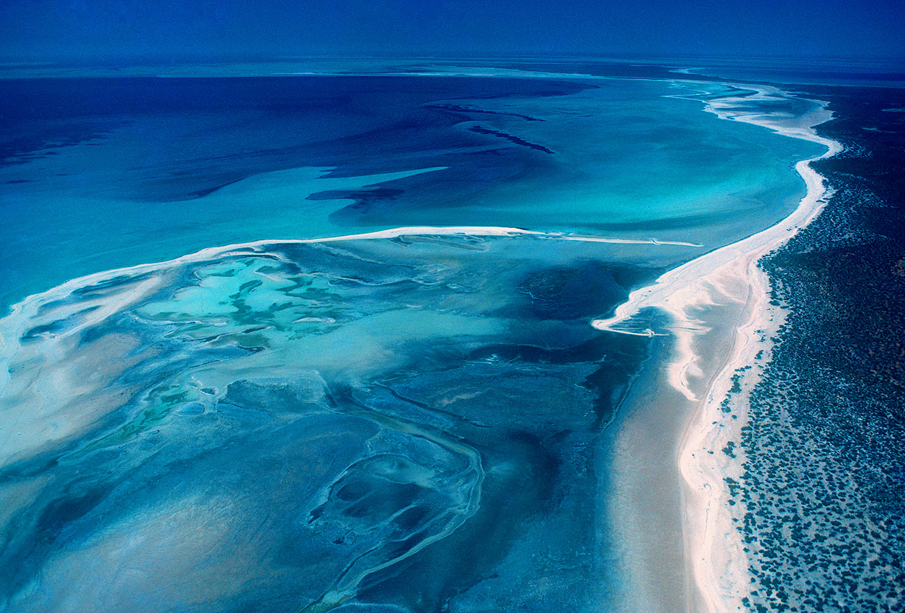 Aerial view over Shark Bay, Western Australia ©2017